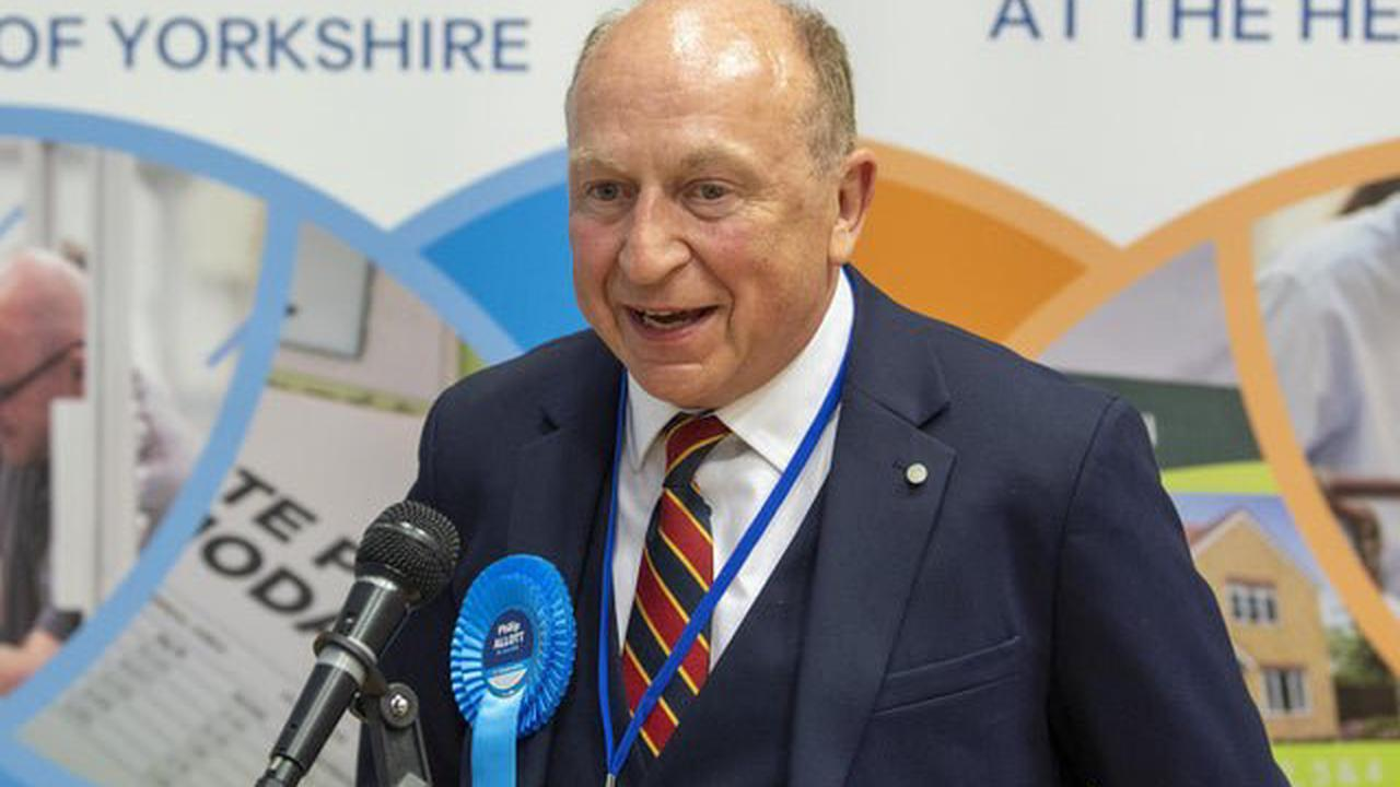 Conservative Philip Allott is elected the new North Yorkshire Police, Fire and Crime Commissioner
