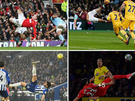 OPINION: Wayne Rooney's Bicycle Kick Is The Best Ever Scored In The PL Among These 8 Players