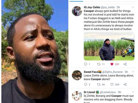 Mzansi involves Cassper after AKA's girlfriend commits suicide, Fans disappointed with Mzansi