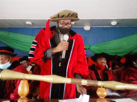Benue state polytechnic matriculates 1725 students.