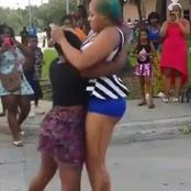 See What Two Slay Queens Were Caught doing in Public (Photos)
