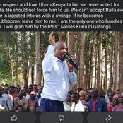 'If He Becomes Troublesome Leave Him To Me' Moses Kuria Talks Of Raila In Gatanga