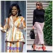 Who has the best fashion sense between Obama's wife and Trump's wife? (Pictures)