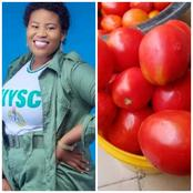 While a Paint bucket of Tomato is Cheap in the North, see the Price a lady was asked to pay at Asaba