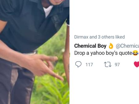 After Chemical Boy Told Twitter Users To Drop A Yahoo Boy's Quote, See Funny Quotes People Dropped.