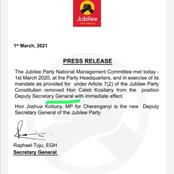 Mistakes Jubilee Party Made on Their Letter to Caleb Kositany That Kenyans Haven't Realized