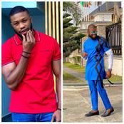 Broda Shaggi, Trikytee & others react as Actor, Stan Nze shares photos wearing a cool native outfit.