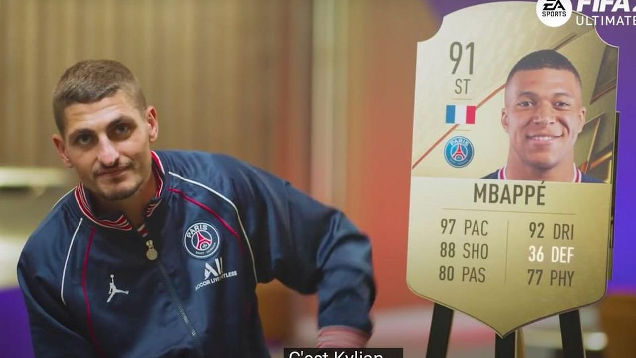 FIFA 22 ratings: Marco Verratti thought Kylian Mbappe's card belonged to Lionel Messi