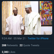Checkout the birthday message Atiku sent to Obasanjo today at 84