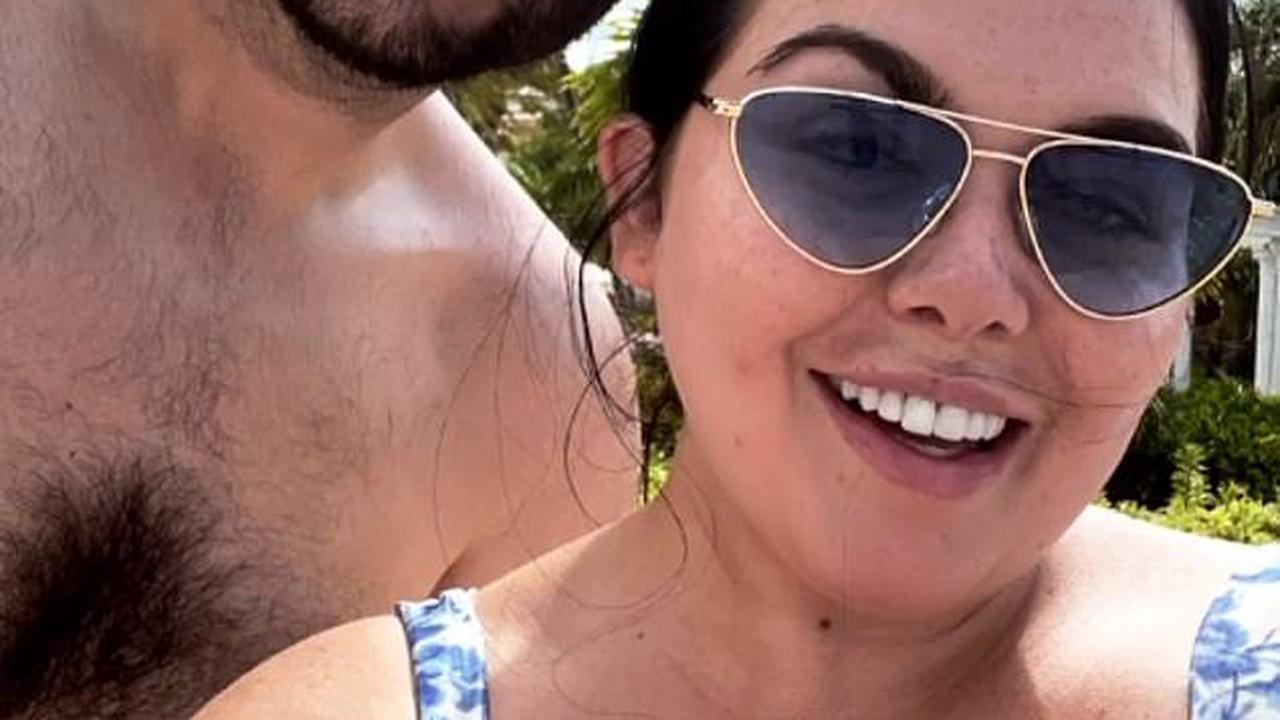 Scarlett Moffatt posts busty selfie with beau Scott Dobinson as they enjoy boozy pool day - after revealing it was her first time in a bikini for five years