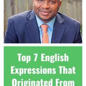 See These Top Seven English Expressions That Originated From Africans: Faruq Kperoogi