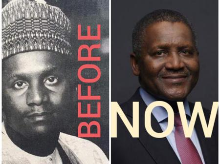Throwback photo of Dangote as he turns a year older