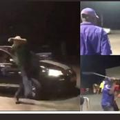 ENGEN workers beating up a customer