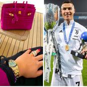 Cristiano Ronaldo's Girlfriend Shows Off Her Expensive Handbag And Wristwatch In Her Recent Post