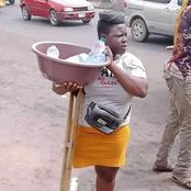 Disable young lady hawking pure water gets attention for support