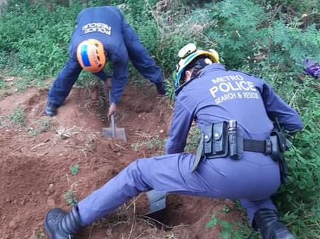 The police had to dig a tunnel and found a person who was killed: See how