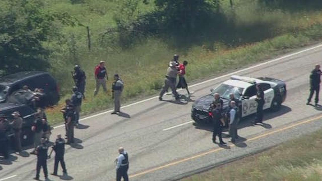 Suspects In Custody And Hospitalized Following Chase, Shootout In Johnson County