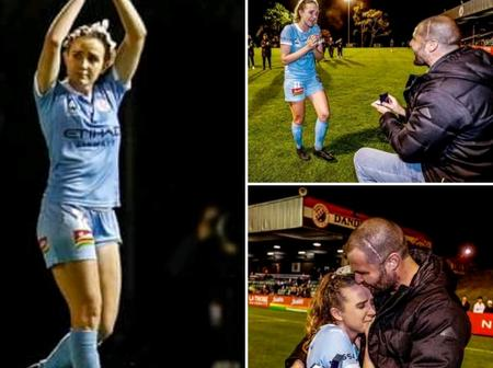 A 28 Years Female Footballer Quit Her Job to Support Her Boyfriend Who's Undergoing Cancer Treatment
