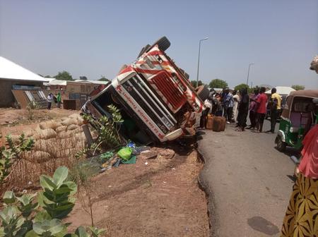U/W: Heavy Truck somersaults in Wa; Two Injured