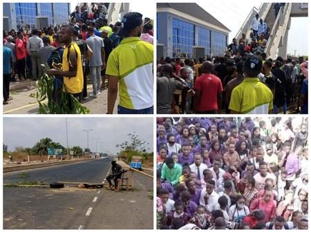After 5 EBSU students allegedly fainted while trying to write exams, See how other students reacted
