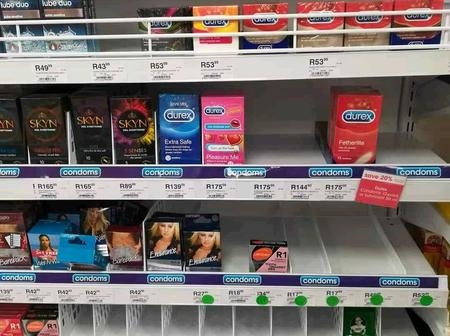 Condoms sold out already, hopefully they are going to use them