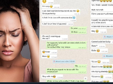 April Fool: See what happened as lady told her boyfriend that she has fallen in love with another man