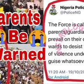 ENDSARS: Checkout Strong Warning Police Gave to Parents Whose Children Are Involved in Violent Acts