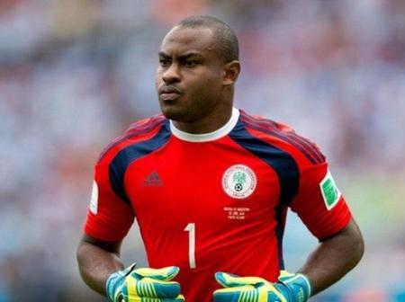 Nigerians Reacts As Vincent Enyeama Post Throwback Photo Of Himself On The Field Of Play