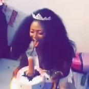 On her birthday, see the type of cake that was presented to a slay queen (pictures)