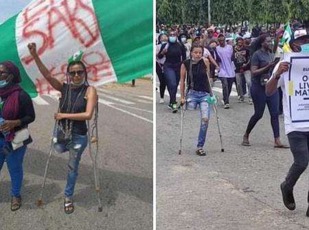 (Photos), Jane Obiene, the Amputee and other protesters.