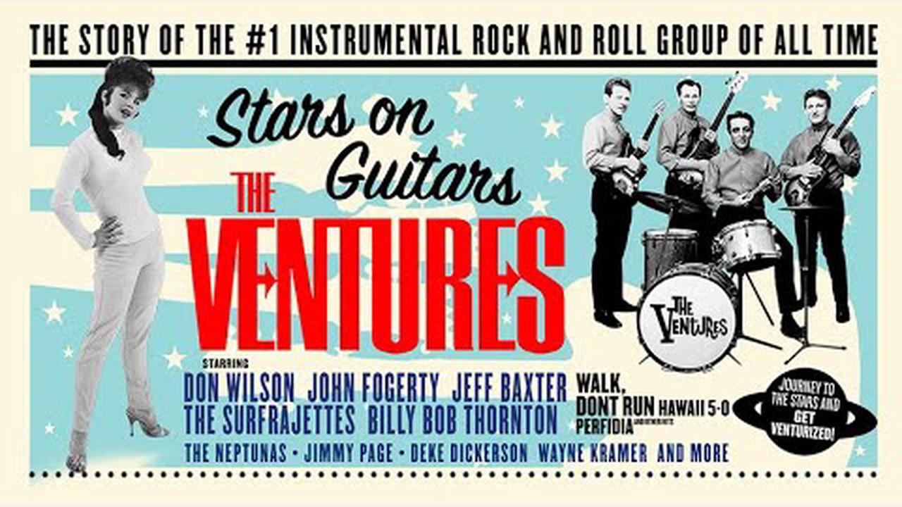 Groove along to the trailer for the documentary 'The Ventures: Stars on Guitars,' celebrating the biggest instrumental rock 'n' roll band of all time