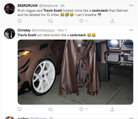 Travis Scott deactivates his Instagram after fans compared him to a