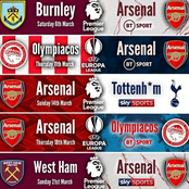 Opinion: Arsenal's Next 6 Premier League Fixtures that Might See them Displace Manchester United in Second Position