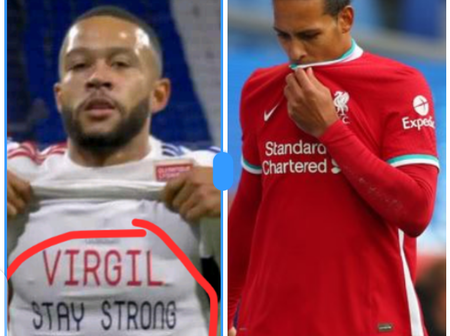 See what Virgil Van dijk said on Facebook after Depay dedicated goal to him that got people talking