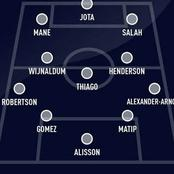 Predicted Liverpool Lineup Ahead Of Fulham Clash Today