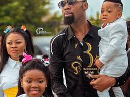 Rev Obofour's wife Ciara flaunts 3-year-old son as he swags up to celebrate b'day in new photos