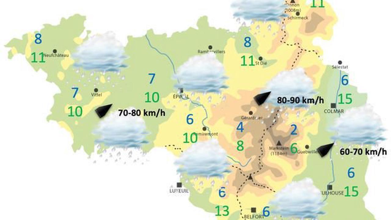 Bulletin météo du mardi 11 mai 2021 à 12h55