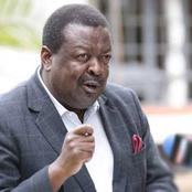 Mudavadi's Strong Late Night Message Backfires Badly as Kenyans Gang Against him
