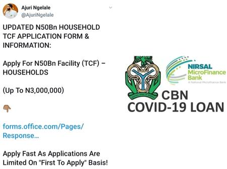See Link As Special Aide To The VP, Ajuri Ngelale Implored Nigerians To Apply For The 50Bn TCF