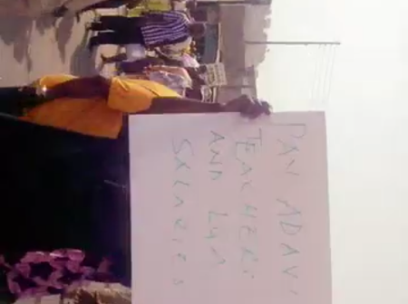 Teachers and Workers In Adavi LGA Blocked Highway Because of Unpaid December and January Salaries