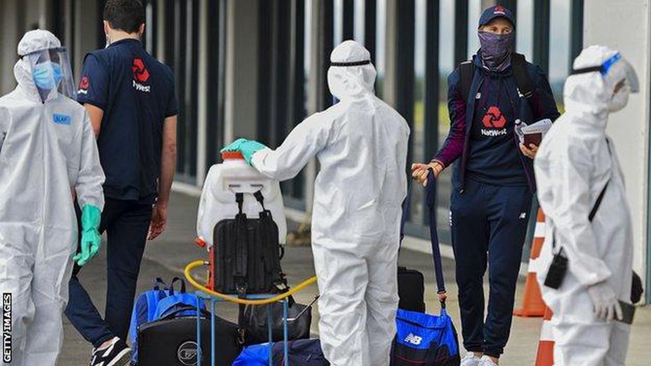 England in Sri Lanka: Joe Root's side arrive amid strict coronavirus restrictions