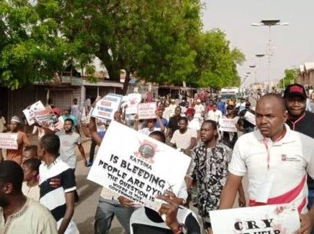 See reactions as Northern Groups protest abduction of student in Katsina (Photos)