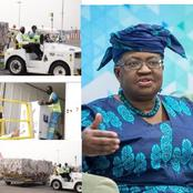 Hours After 600,000 Covid19 Vaccines Landed In Ghana, See What Ngozi Iweala Posted That Got Reactions