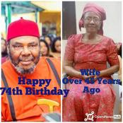 Meet Pete Edochie's Wife Whom He Has Been Living With For Over 50 Years As He Clocks 74 Tomorrow