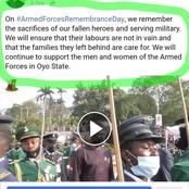 Reactions As Governor Seyi Makinde Posted This Video To Honor The Armed Forces