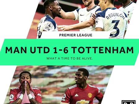 After Tottenham Hotspurs Defeated Manchester United 6 - 1, See Photos of Both Teams in Action Today