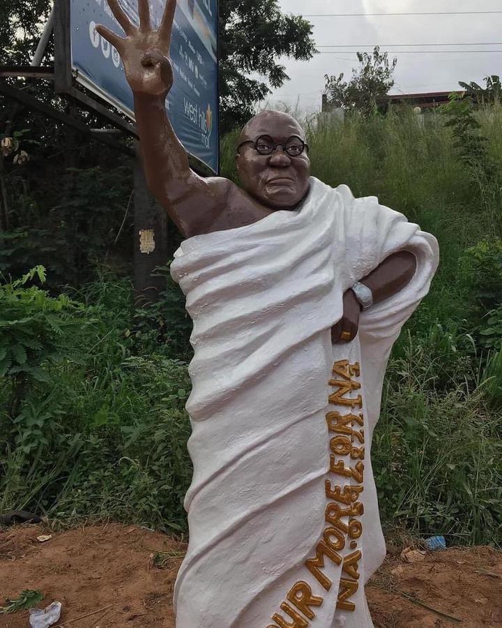 """576ef6c8548b369e8405b5f56ffb6c30?quality=uhq&resize=720 - """"Who Did This?"""" - Ghanaians React To A Bizarre Sculpture Of Nana Addo"""