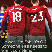Luke Shaw Respects Bruno Fernandes; See What He Said After Beating Bruno, In This Major Award.
