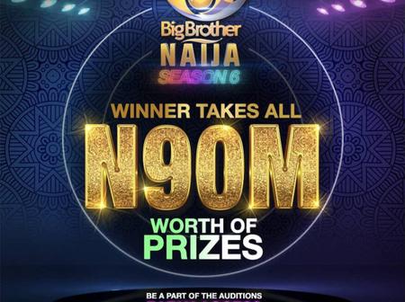BBNaija : The winner of the Season 6 edition will win N90 million worth of prizes.