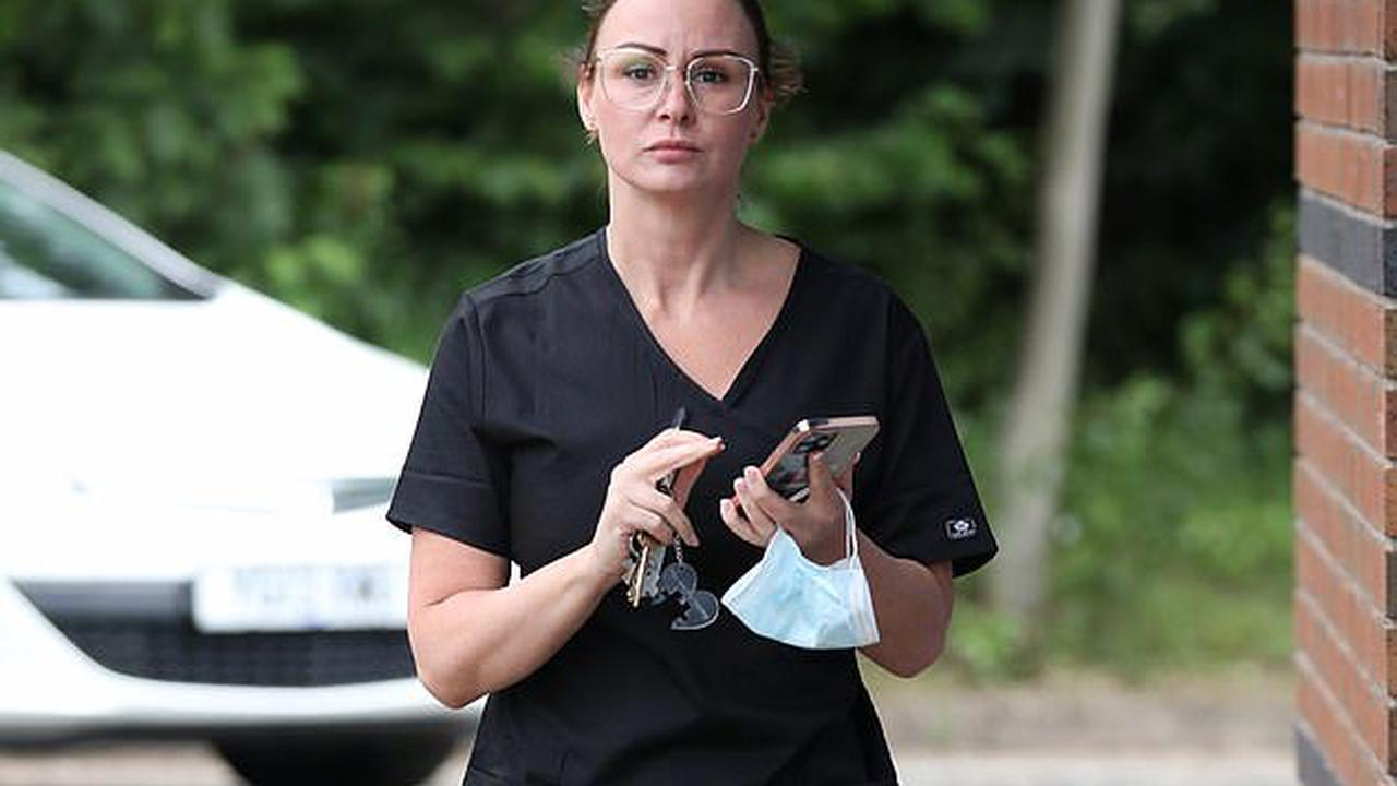 Chanelle Hayes continues to showcase her incredible seven stone weight loss in a black tunic and leggings as she attends a beautician course